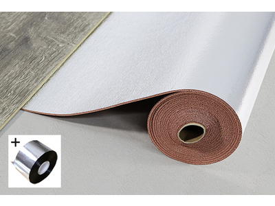 Acoustic Layer + PUR 2.8+ S, Polyurethan rotbraun/silber, Rolle: 5,50 x 1,00 m = 5,50 m²