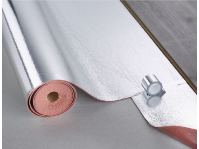 Acoustic Layer + PUR 2.8+ S, Polyurethan rotbraun/silber, Rolle: 5,50x1,00 m = 5,50 m²