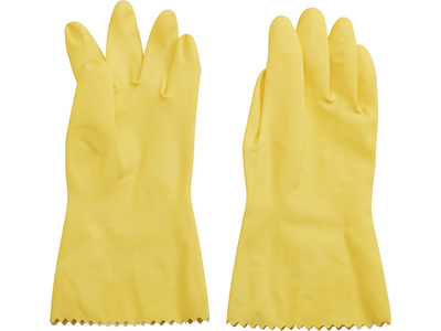 Haushalts-Handschuh, Latex, innen velourisiert XL 10 (933640)