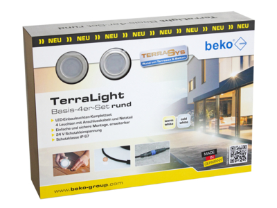 TerraLight Basis TerraLight LED-Spot rund Ø 60, anthrazit DB 703 FS pulverbeschichtet, warmweiß